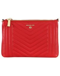Michael Kors - Double Pouch Bright Red Crossbody Bag - Lyst
