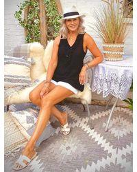 LINDSEY BROWN Florence Designer Frill Top - Black
