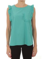 iBlues Is Light Cotton Top - Blue