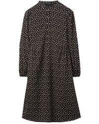 Luisa Cerano And Beige Spot Tunic Dress 738209/3266 - Black