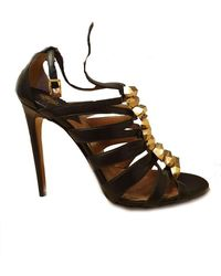 Roberto Cavalli Leather Sandals - Black