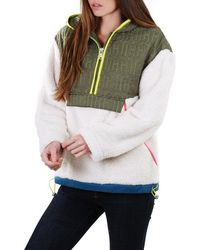 UGG Womens iggy Sherpa Half Zip Pullover Fleece - Multicolour