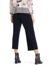 Marc Cain Collections Trousers In Midnight Blue Pc 81.04 M28 - Black