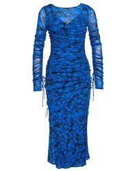 """Diane von Furstenberg Mididress """"corinne"""" - Blue"""