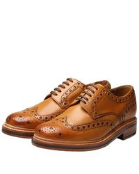 Grenson Archie Calf Brogue Shoes - Brown