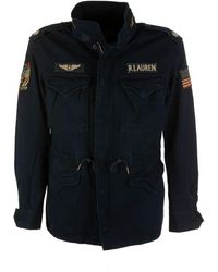 Ralph Lauren Jacket Military Navy W / Patches - Blue