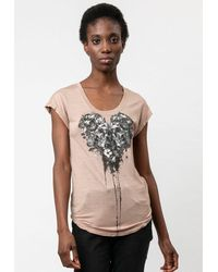 Religion Heart Tee - Ashes Of Roses - Multicolour