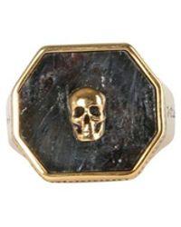 McQ Ring With Skull Seal - Metallic