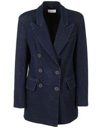 WEILI ZHENG Cotton Blazer - Blue