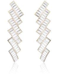 Thale Blanc Stairway To Heaven Swarovski Earrings - Metallic