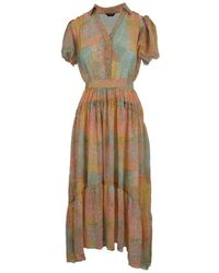 Guess Shade Maculage Long Dress - Multicolour