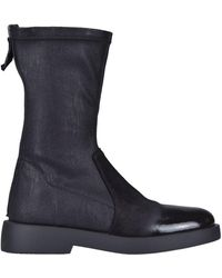 Jeannot Leather Ankle Boots - Black