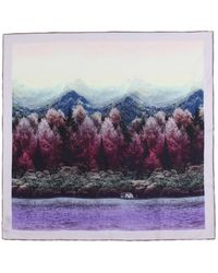 Baum und Pferdgarten Leah Scarf - Purple