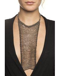 Silvia Gnecchi Aicha Mesh Chain Necklace - Black