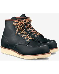 Red Wing Moc Toe Navy Portage - Blue