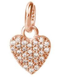 Kirstin Ash Bespoke Crystal Heart Charm - Rose Gold - Metallic