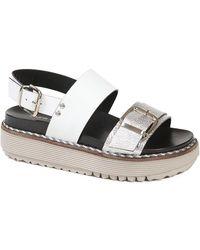 Laura Bellariva Zeus Silver Sandals - Metallic