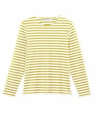 Petit Bateau Men's Breton Long Sleeved Top - Yellow