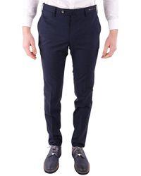 PT01 Men's Dstvz00ntvpo480350 Blue Cotton Pants