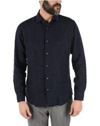 Ermenegildo Zegna Men's Zcsf1vu230b08 Light Blue Linen Shirt