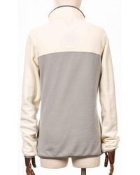 Patagonia Micro D Snap-t Fleece Pullover - Drifter W/whit - Gray
