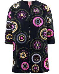 Vilagallo Hanna Embroidered Coat - Black