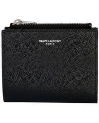 Saint Laurent Wallet With Logo - Black
