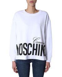 Moschino Women's Round Neck Sweatshirt - White