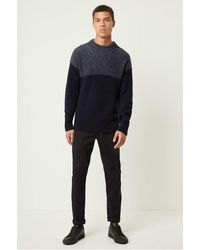 French Connection Heavy Rib Fishermans Sweater - Blue