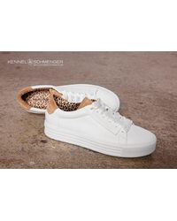 Kennel & Schmenger Up Sneaker White With Beige Suede