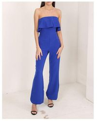 Guess Sara Overall Jumpsuit Colour: Jewel Blue - Black