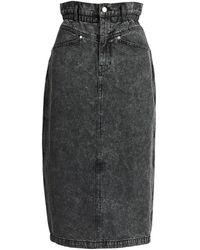 Essentiel Antwerp Aiden Denim Pencil Skirt - Grey