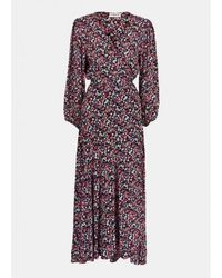 Essentiel Antwerp Antwerp Vip Long Dress In Black / Pink