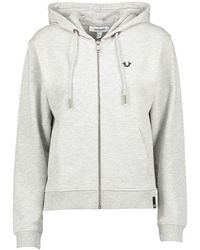 True Religion Womens Courtney Zip Jacket - Grey