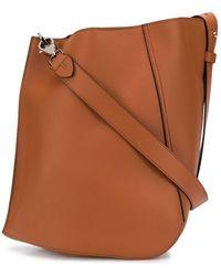 Lanvin Hook Leather Bucket Bag - Brown