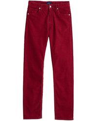 GANT Ladies Slim Cord Jeans - Red