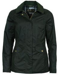 Barbour Glen Wax Jacket Sage - Green