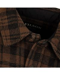 Filson Beartooth Jac Shirt Dark Brown Charcoal
