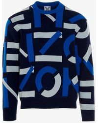 KENZO Jumpers Blue