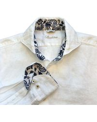 Stenströms Slim Fit Linen Shirt 000 - White