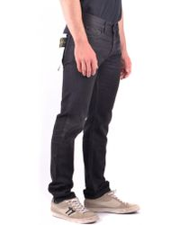 Stone Island Black Cotton Jeans