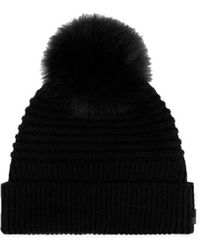 Woolrich Women's Wwacc1449uf0220100 Black Wool Hat