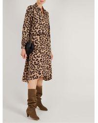 Swildens Alizee Leopard Print Dress - Brown