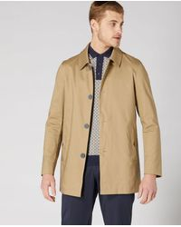Remus Uomo Tapered Fit Tailored Mac Beige | - Brown