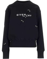 Givenchy Women's Bwj0213z5h001 Black Other Materials Sweatshirt