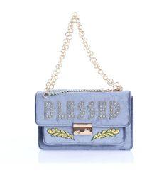 Pomikaki Avion-colored Shoulder Bag - Blue