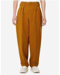 Maison Kitsuné Pleated Pants | Camel - Multicolor