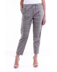 Purotatto Bi-color Chino Trousers - Brown