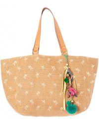 Star Mela Alohi Natural Tote Bag - Multicolor