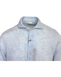 Stenströms Slim Fit Linen Shirt 100 - Blue
